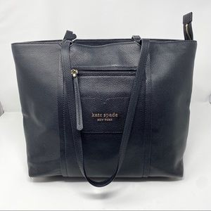 Kate Spade Leather Black Large Shopper Tote Purse